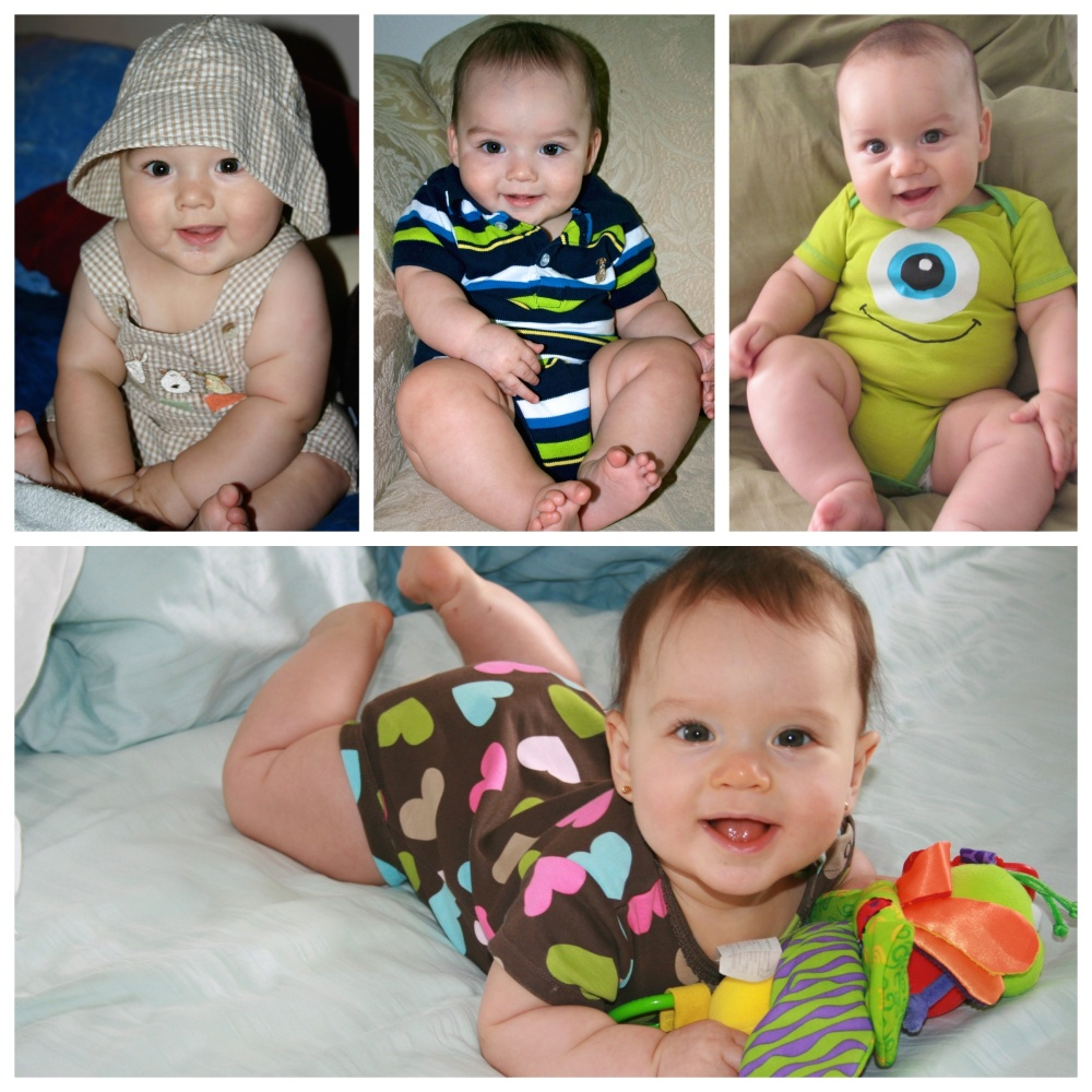 My four little ones at almost six months.